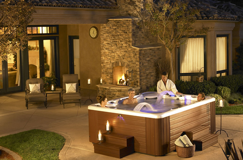 Hot-Tub at Night Life Style