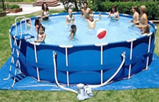 Easy to set up Above Ground Metal Frame Swimming Pool